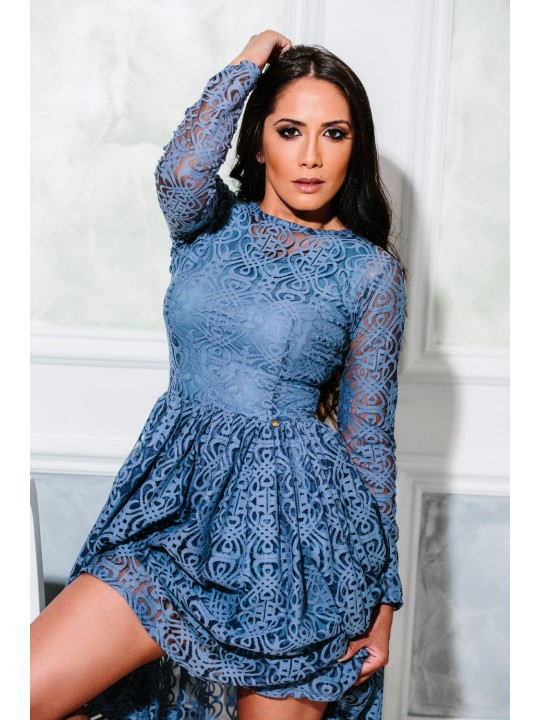 Geometrical lace dress
